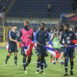 Les chaussures des 23 joueurs de l'équipe de France Espoirs pour l'Euro 2019