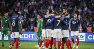 Image de l'article Les chaussures des 23 Bleus pour les matchs contre l'Islande et la Turquie
