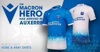 Image de l'article L'AJ Auxerre dévoile ses maillots Macron pour 2019-2020