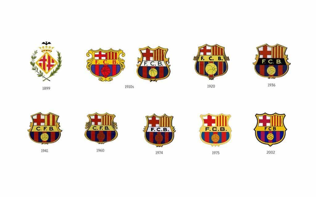 evolution-logo-fc-barcelone-histoire