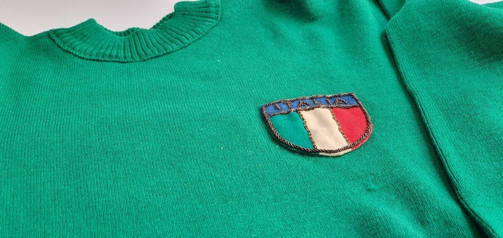 maillot-maglia-verde-italie-argentine-1954