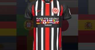 Image de l'article L'Eintracht Francfort va porter un maillot pour promouvoir la diversité