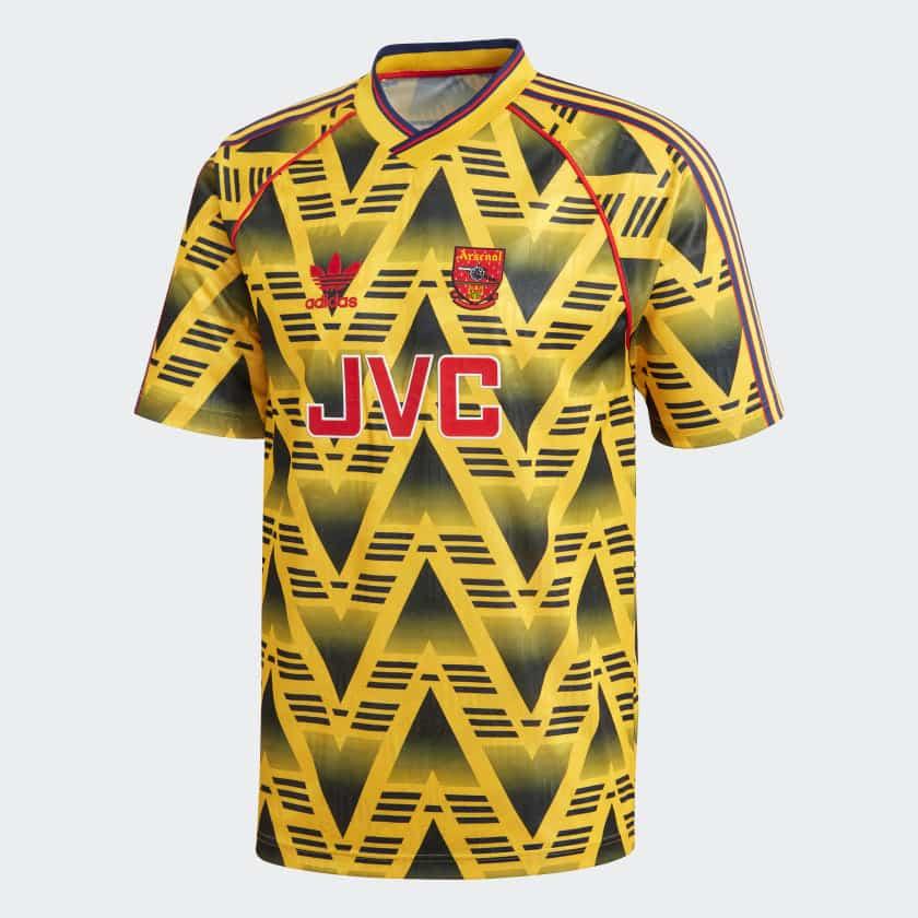 maillot-arsenal-banane-ecrasee-bruised-banana-1991-1993-adidas-