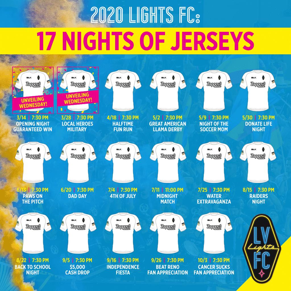 17-maillots-différents-las-vegas-light-fc