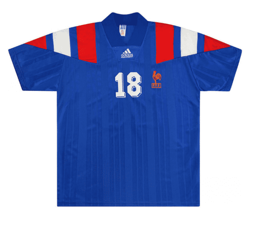 maillot-equipe-de-france-1992