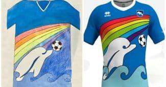 Image de l'article Un maillot imaginé par un enfant sera porté par les joueurs de Pescara