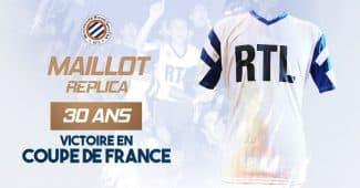 Image de l'article 30 ans après sa victoire en Coupe de France, Montpellier va rééditer le maillot de l'époque