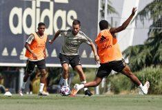 Image de l'article Eden Hazard avec des crampons masqués à l'entrainement du Real ... #BootsMercato