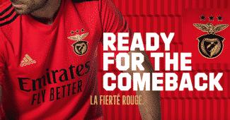 Image de l'article adidas lance les maillots 2020-2021 du Benfica Lisbonne