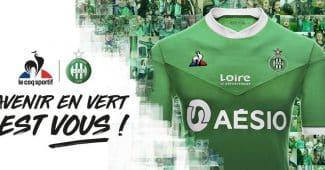Image de l'article Saint-Etienne présente ses maillots 2020-2021 avec Le Coq Sportif