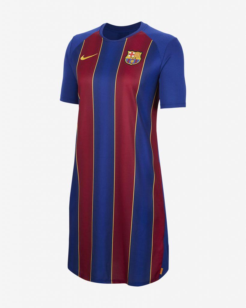 Quand Nike imagine une robe avec le nouveau maillot du Barça