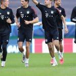 La composition en chaussures de Lyon – Bayern Munich