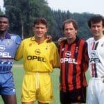 En 1995, l'AC Milan portait déjà un maillot bleu