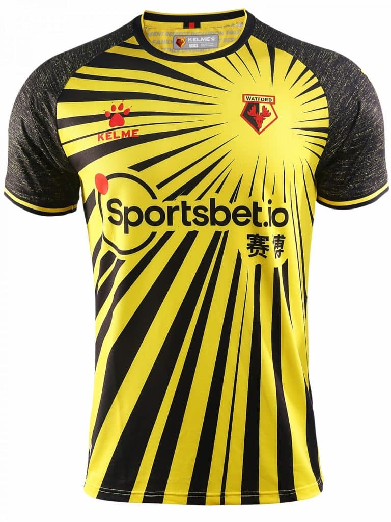 maillot-domicile-watford-2020-2021-kelme