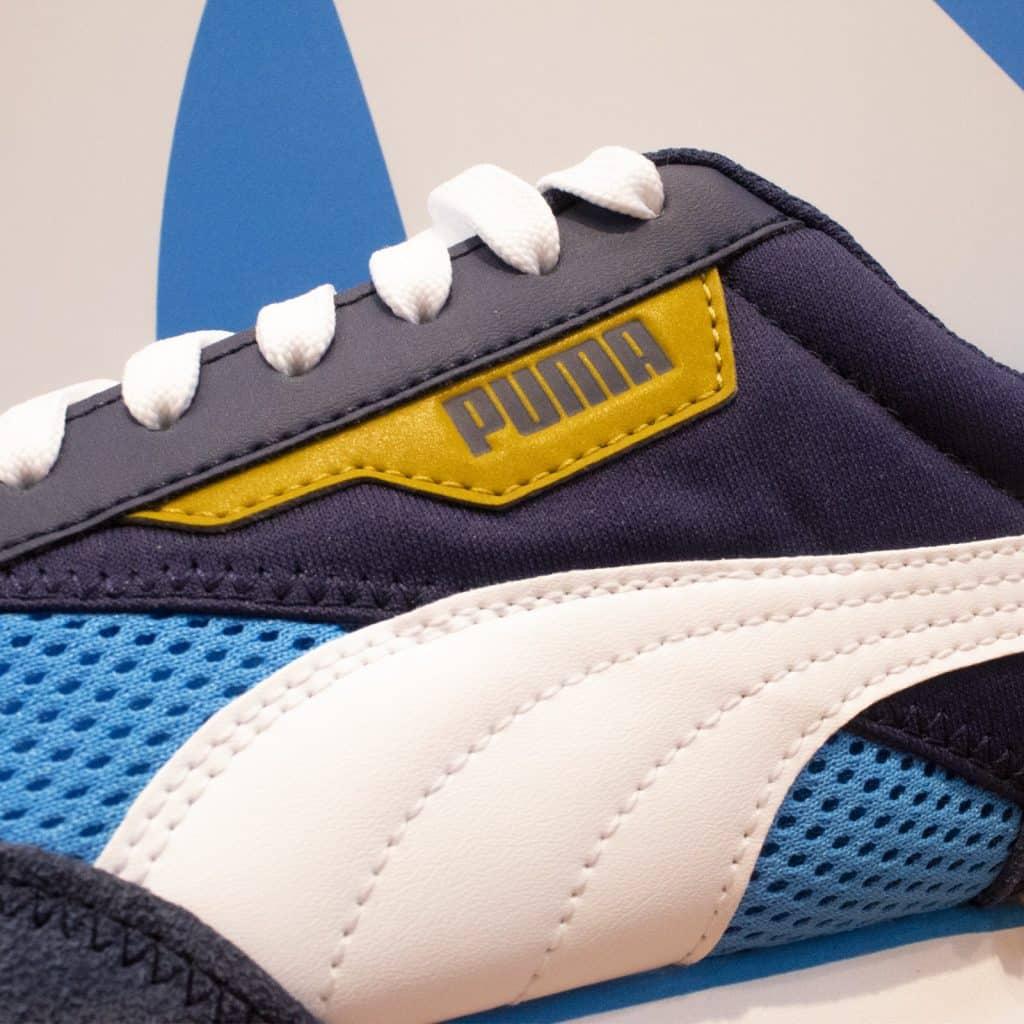 Une paire de Puma Rider aux couleurs de l'OM - footpack.