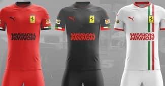 Image de l'article Des maillots de foot aux couleurs des écuries de F1