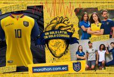 Image de l'article Les maillots 2020 de l'Équateur, dévoilés par la marque Marathon