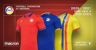 Image de l'article Avec le soutien de l'UEFA, Macron Sports dévoile les maillots des petites sélections nationales