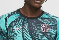 Image de l'article Des palmiers sur le maillot pré-match du Barça!