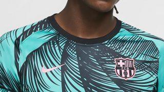 Image de l'article Des palmiers sur le maillot pré-match du Barça !