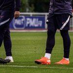 Les crampons des joueurs de l'équipe de France (Ukraine, Portugal, Croatie)