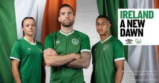 Image de l'article Désormais équipementier de l'Irlande, Umbro dévoile les nouveaux maillots
