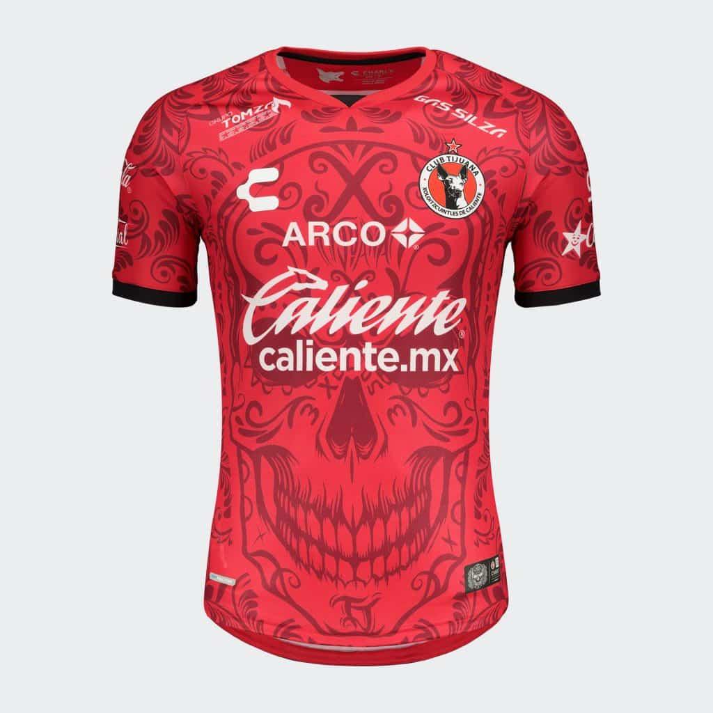 maillot-xolos-fete-des-morts-mexique-dia-de-muertos-xolos-jersey-charly-futbol