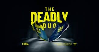 Image de l'article « Deadly Duo », le nouveau pack de crampons Umbro