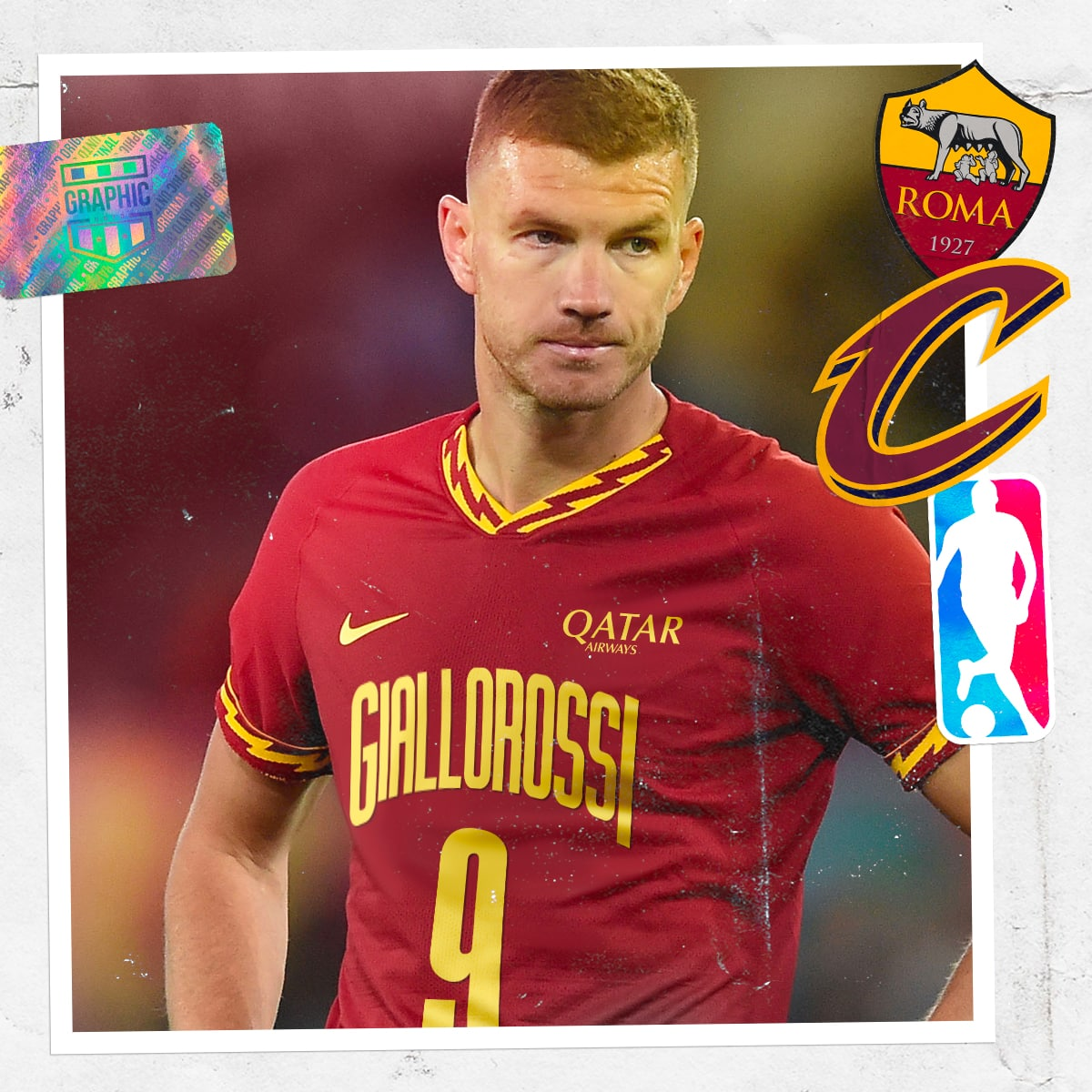 maillot-foot-nba-graphic-untd-as-roma-cleveland-cavaliers