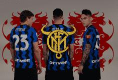 Image de l'article L'Inter Milan dévoile un nouveau blason et une collection textile pour le Nouvel An chinois