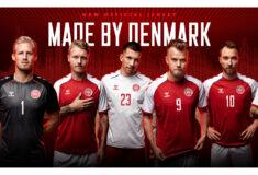 Image de l'article hummel présente les maillots du Danemark pour l'Euro 2020