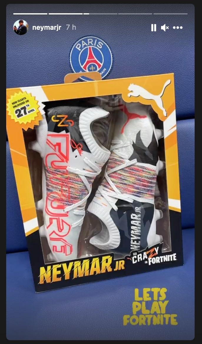 crampons Neymar Fortnite PSG Metz