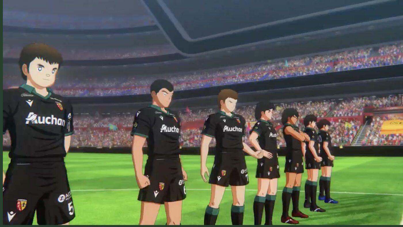 Maillot RC Lens Captain Tsubasa : Rise of New Champions.