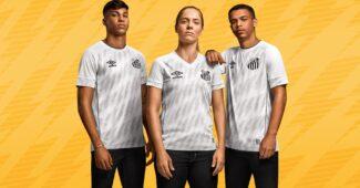 Image de l'article Le club de Santos dévoile ses maillots 2021-2022 avec Umbro
