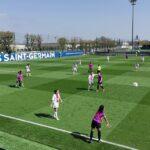 Quand les joueuses de Soyaux jouent face au PSG …. avec le maillot extérieur du PSG!