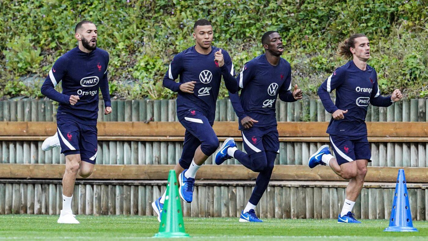 Chaussures de running joueur équipe de France
