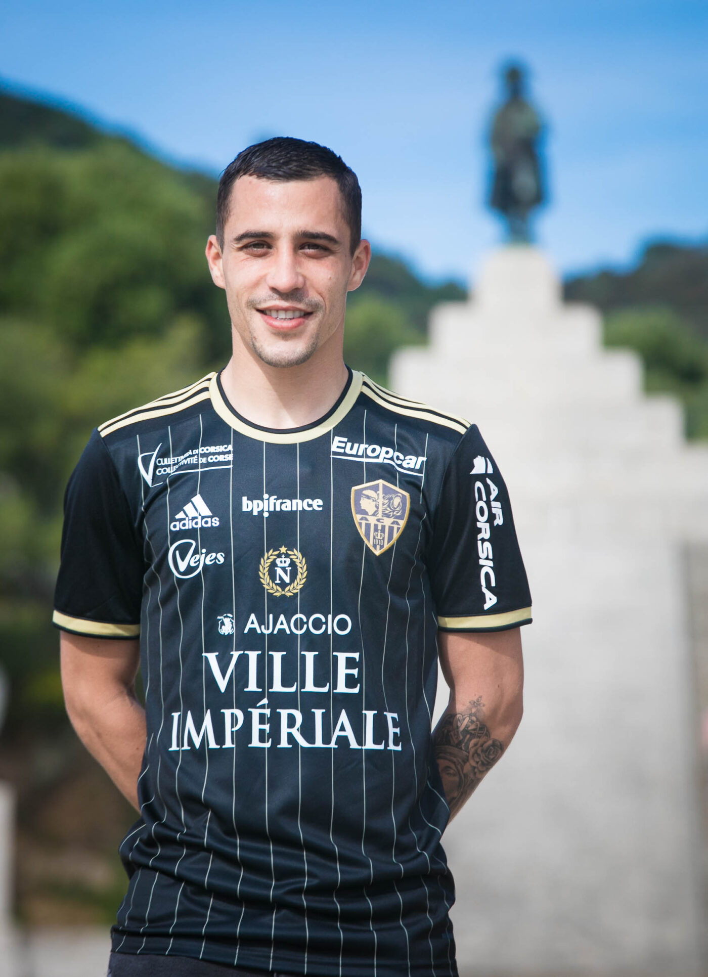 Maillot AC Ajaccio Napoléon contre Paris FC