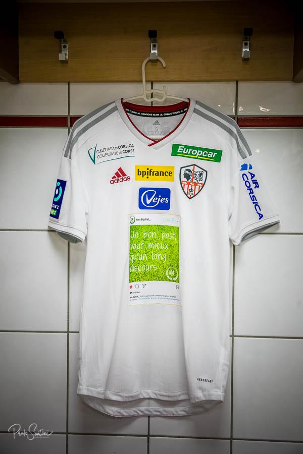 Post Instagram maillot AC Ajaccio