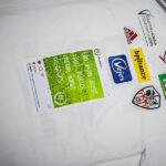 Un post Instagram floqué sur le maillot d'Ajaccio pour le dernier match de la saison!