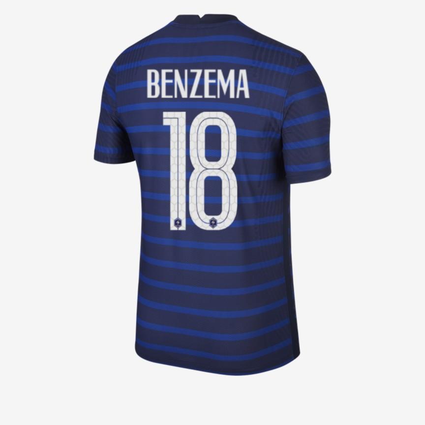 Maillot Benzema équipe de France numéro 18