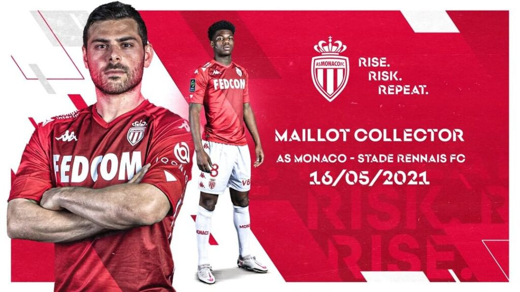 Maillot collector AS Monaco Rennes