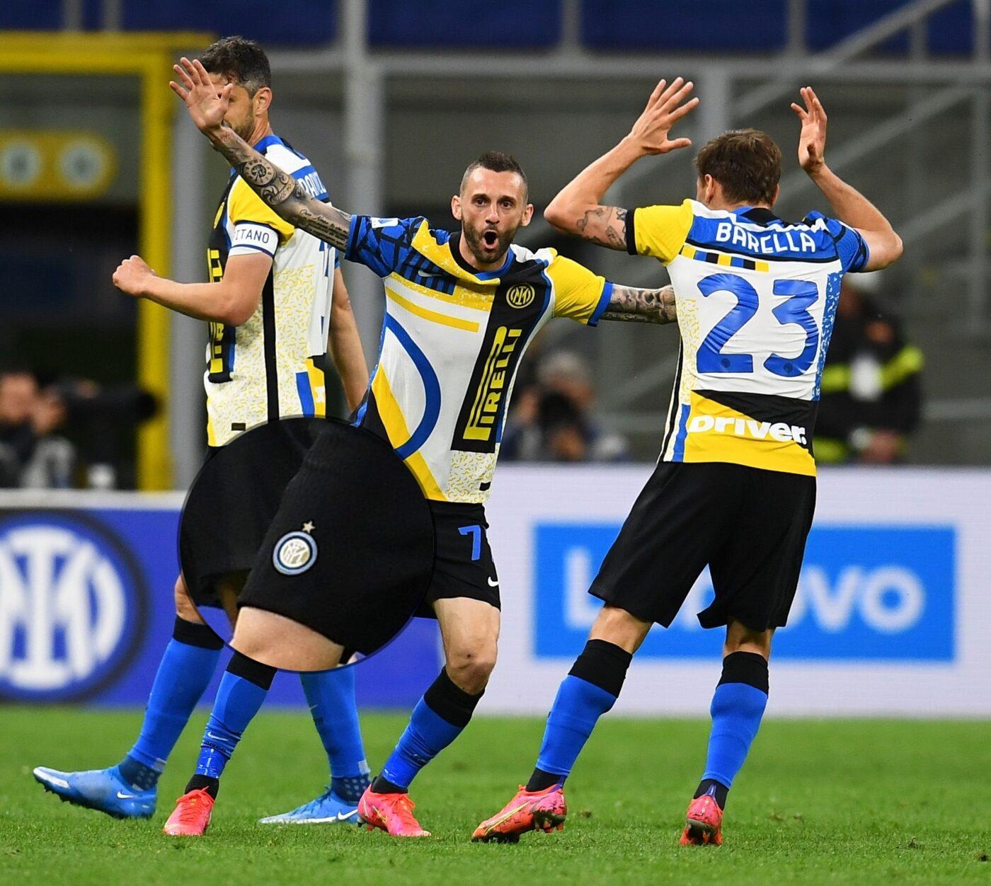 Maillot Inter Milan problème logo Brozovic