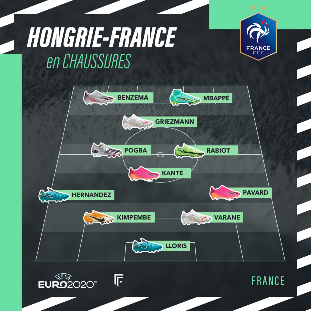 Compo Hongrie France EURO 2020 footpack
