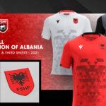 L'Albanie présente ses nouveaux maillots avec Macron