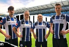 Image de l'article Les maillots de l'Arminia Bielefeld 2021-2022 dévoilés par Macron