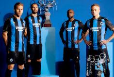 Image de l'article Les maillots du Club Bruges 2021-2022 lancés par Macron