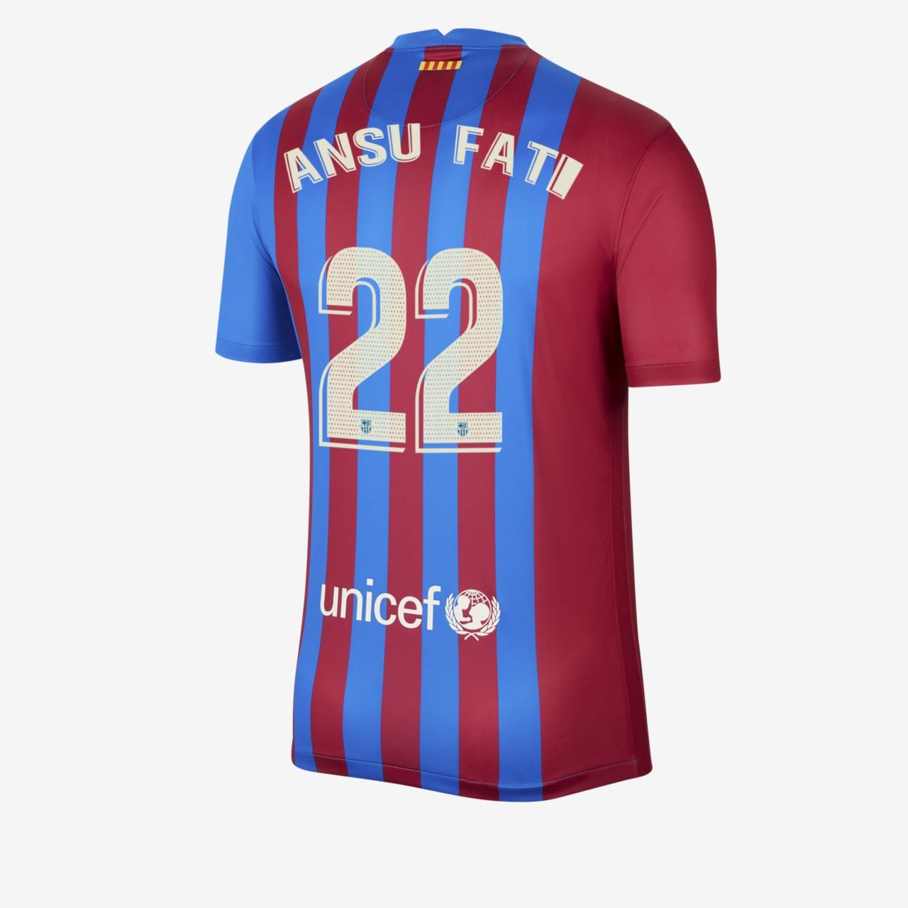 Flocage Fati maillot FC Barcelone 2021-2022