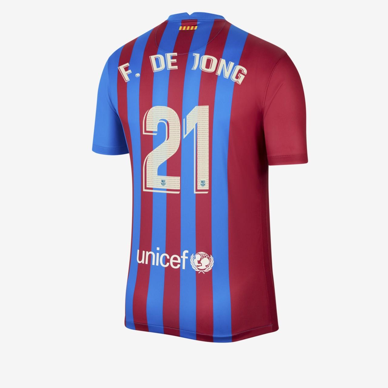 Flocage De Jong maillot FC Barcelone 2021-2022