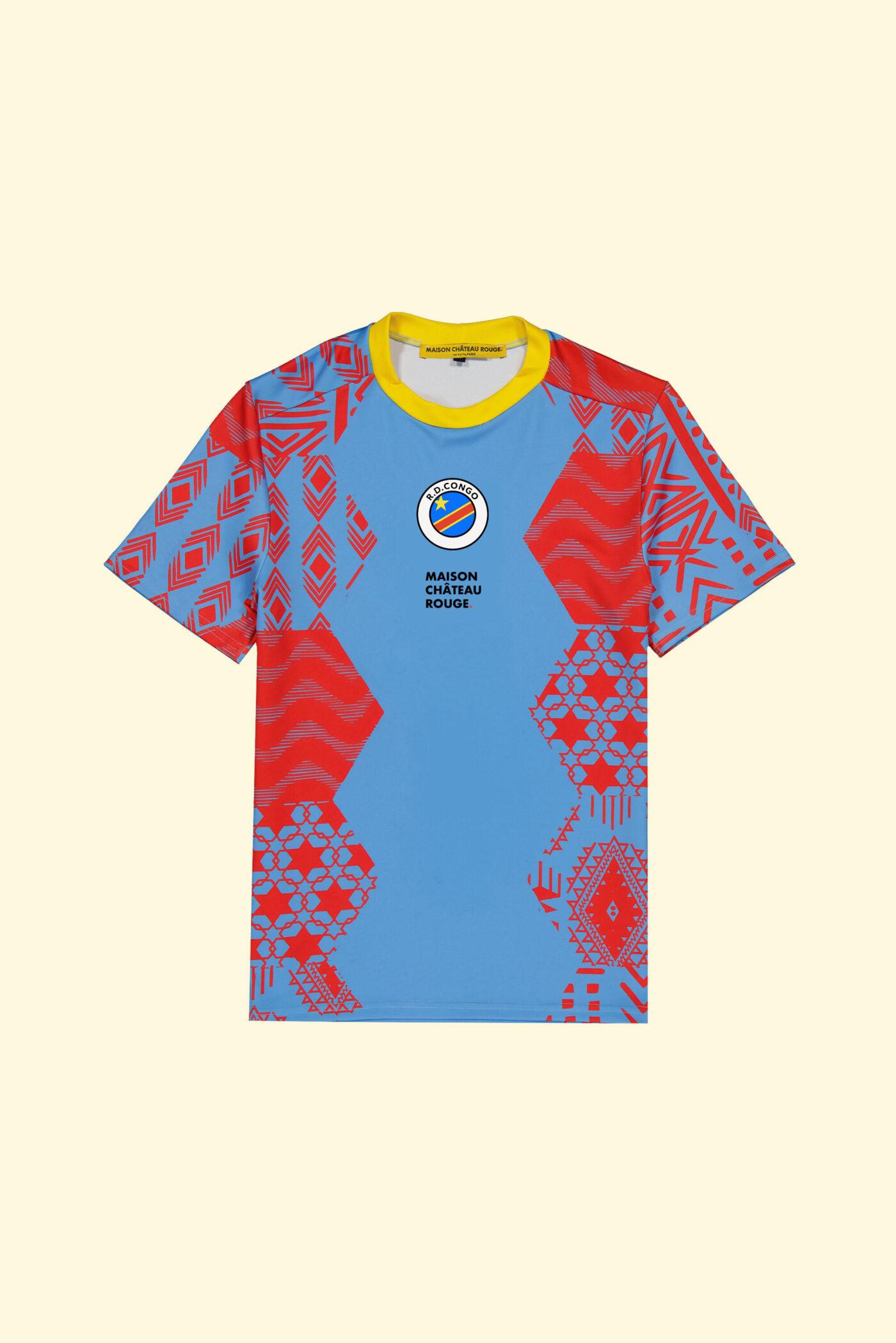 Maillot Congo RDC Maison Château Rouge CAN 18ème