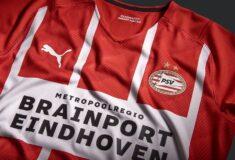 Image de l'article Les maillots du PSV Eindhoven 2021-2022 révélés par PUMA